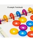 10/30/50/100 sztuk cukierki kolor serca Binder pierścienie dla notebooków/Planner 28mm Diy discbounddisc luźny liść wiążące pier