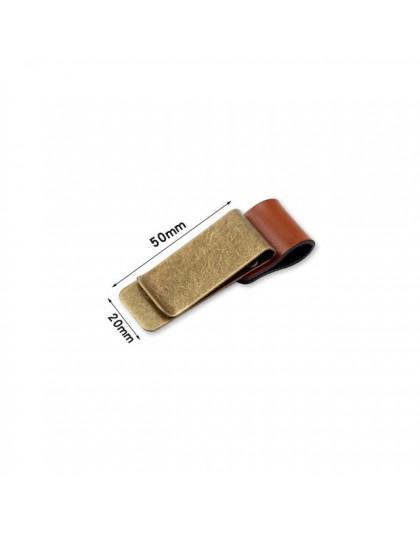1pc metalowa skóra obsadka do pióra mosiądz ze stali nierdzewnej ołówek klip Vintage nabiał Notebook obsadka do pióra spirala lu
