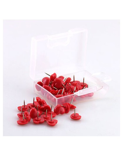 TUTU Heart shape 50 sztuk plastikowa tablica korkowa kolorowe szpilki zabezpieczające pinezka biurowe akcesoria szkolne H0001
