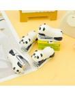 1 sztuk Mini Panda zszywacz zestaw Cartoon biuro szkolne papiernicze spinacz Binding Binder Book kanalizacja