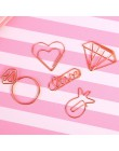 5 sztuk/partia diament papier do pisania klipy Mini metalowe klipsy śliczne Kawaii spinacze koreańskie piśmiennicze szkolne mate
