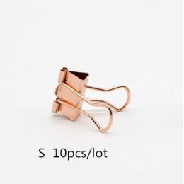 TUTU 10 sztuk/partia stałe kolor różany złoty metal spinacze do papieru zauważa papier do pisania klip biurowy H0059