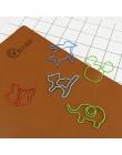 TUTU 30 sztuk/partia Cute Cartoon kształt zwierząt spinacze do papieru kreatywny ciekawe zakładka do książki klips do notatek w