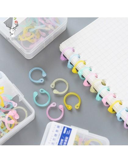 1 zestaw kolorowy łatwy pierścień papierowa książka luźny segregator wielofunkcyjny koło kalendarz brelok do kluczy z obręczą ma