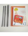 10 sztuk A4 46 otwór plastikowa cewka spiralna do luźnych liści Notebook wiążące 6mm 8mm Binder klip cewki PP pierścień dziurkac