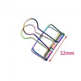 2020 nowe kolorowe z dziurką długie spinacze krzyż granicy Hot 19mm/32mm/51mm Metal poszycia tęczowy papier klip Dove spinacze