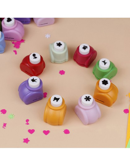 4 sztuk Mini DIY dziurkacz ręczny do scrapbookingu dziurkacz ręcznie wycinane karty dziurkacz er dla DIY karta podarunkowa dziur