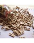 50 sztuk Mini natura drewno klip materiały biurowe zdjęcie Memo drewniany kołek Pin DIY Craft pocztówka klipy do dekoracji długo
