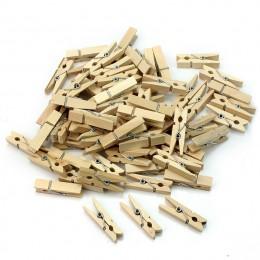 50 sztuk/zestaw Mini drewniany naturalny klip opakowanie małe DIY wesele naturalny klip s materiały biurowe