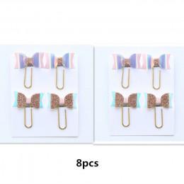TUTU 8/4pcscard piękna kokarda-projekt w kształcie węzła biuro szkolne spinacze do papieru zestaw papeterii, kawaii student zakł