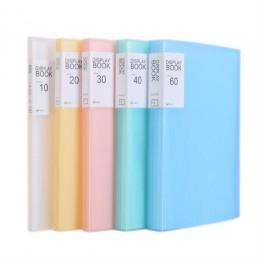 1PC A4 organizer na dokumenty 20/40/60 strona przezroczysta wkładka Folder torba na dokumenty do przechowywania plików w kampusi
