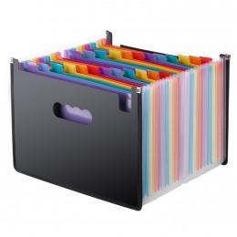 13/24/37/48 kieszenie rozkładana teczka A4 Organizer przenośny plik biznesowy materiały biurowe teczka na dokumenty Carpeta Arch