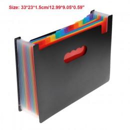 12/24 kieszenie rozkładana teczka A4 Organizer przenośny plik biznesowy materiały biurowe teczka na dokumenty Carpeta Archivador