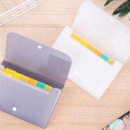 1pc plastikowy A6 Folder Organizer do dokumentów pokwitowanie plik rozszerzający portfel 13 kieszenie Bill foldery uchwyt na pap