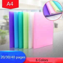 Nowe 20/30/40 stron A4 przechowywanie dokumentów produkty do przechowywania wstaw papier testowy broszura Folder przechowywanie