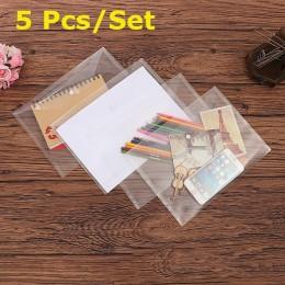 5 sztuk/zestaw najlepiej Transparent z tworzywa sztucznego A4 teczki na dokumenty torba na dokumenty trzymać torby foldery jasne