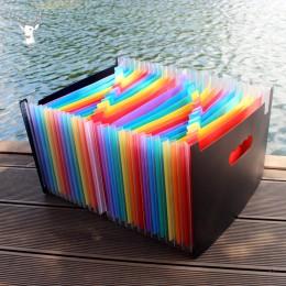 13/24/37 warstwy rozkładana teczka plik Holder A4 aktówka Rainbow klasyfikacja Test papiery narzędzie biznes rozszerzenie pliku