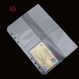 A5 A6 PVC prezentacja segregator Folder Zipper torebka zwięzły Diario Planner & amp spirala składanie produktów posiadacz karty