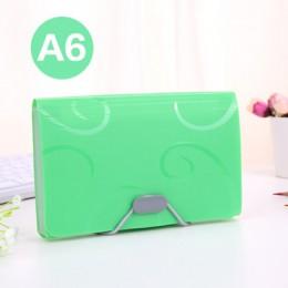 A6 kolorowy styl akordeonowy Mini rachunki pokwitowanie torba na dokumenty etui na teczka karta uchwyt organizator uchwyt na dok