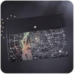 Kreatywny Starry Sky folder A4 aktówka matowy czarny przezroczysty zagęścić peeling brązujący teczka torba materiały biurowe