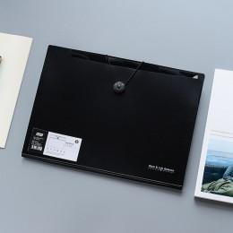 A4 folder binder organizery biurowe 5/12 kieszenie PP organizer do dokumentów folder a4 modny kolor biały i czarny