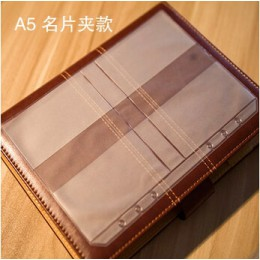 5 sztuk/A5 A6 A7 pcv prezentacja segregator Folder Zipper torebka zwięzłe Diario Planner's Spiral zgłoszenia produkty etui na ka