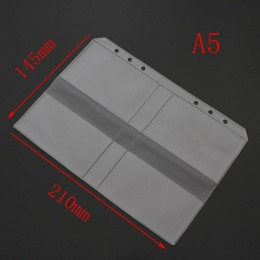A5/A6 pcv 6 otwór luźne liść Folder etui na dokumenty luźne liści Notebook torba na zamek błyskawiczny dzieci nauka folderu mate