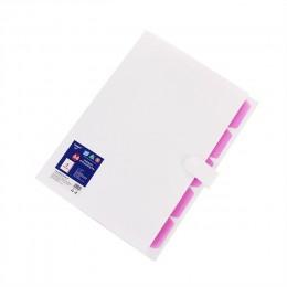6 pckets PP folder elastyczne zamknięcie folderu rozszerzający portfel prosty styl Folder biurowe szkolne produkty A4 torba na d