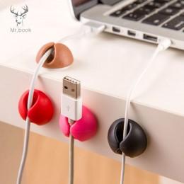 6 sztuk biurko uchwyt do kabla drut elektryczny wyposażone haki i szyny dławnice do kabli organizator do przewijania Tie wierzch