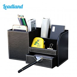 Wielofunkcyjny pojemnik z przegródkami na biurko obsadka do pióra długopisy stojak ołówek organizator na biurko akcesoria biurow