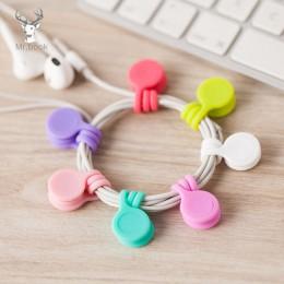3/8 sztuk śliczne zestaw słuchawkowy z magnesem klipsy do kabli koreańskie kawaii stacjonarne przewód organizator do przewijania