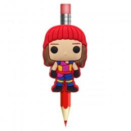 1 sztuk potomkowie długopisy Topper słomy urok piórnik z nadrukiem uchwyt szkolne uchwyt do trzymania ołówka prezenty dla dzieci
