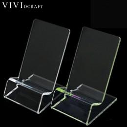 1 sztuk przezroczysty biurko akcesoria klips do kartek wizytowniki biurko tworzywo akrylowe etui na dowód stojak na karty