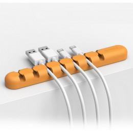 1 sztuka 6 otworów Organizer układ linii Usb klawiatura i mysz biura na biurko materiały do przechowywania Office Essentials