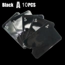 10 sztuk Anti Rfid blokowanie czytnik kart pokrywa aluminiowa folia etui na karty kredytowe ochrona ID etui na karty bankowe Saf