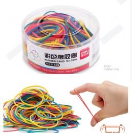 Kolorowe mocne elastyczne gumki pętli 50g szkolne piśmiennicze długopis biurowy uchwyt organizator
