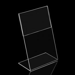 1PC akrylowy przezroczysty stojak na karty a6 znak ramka etykiety biurko półka karta pamięci posiadacze 1.3mm biznes karta papie