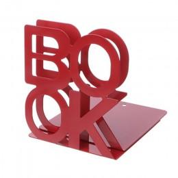 Metalowe podpórki w kształcie alfabetu żelazny uchwyt na biurko stojaki na książki