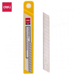 DELI E2012 ostrze noża 10 sztuk opakowanie SK5 zatrzask metalowy Off narzędzie ostrze noża małe rozmiary ostre