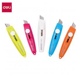 DELI E2020 mini tarka 5 sztuk Box gilotyna do papieru przenośne cukierki kolor szkolne nóż introligatorski Cutter biurowe nóż do