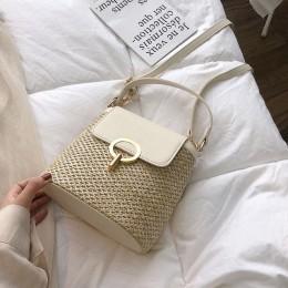 Małe torebki ze słomy dla kobiet 2020 letnia damska torba typu Crossbody torebki podróżne i torebki damskie na ramię