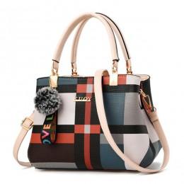 ACELURE New Casual Plaid torba na ramię modna, szyta szalona torba Messenger marki kobiet skrzynki Crossbody torby damskie toreb