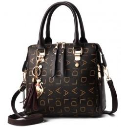 2020 nowy Tassel projektanci moda kobiety PU skórzana torba duża pojemność torby na ramię Casual Tote prosta bluzka-handle toreb