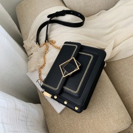 Łańcuch torby na ramię ze skóry pu dla kobiet 2020 mała na ramię Messenger torba specjalna zamek projekt torebki podróżne