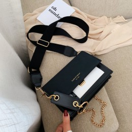 Peeling skóry kontrast kolor Crossbody torby dla kobiet 2019 łańcuch Messenger torba na ramię panie torebki i torebki krzyż ciał