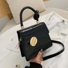 Jakość wzór z kamieniem skórzane torby Crossbody dla kobiet projektant małe torebki torba na ramię łańcucha mini torebki torebka