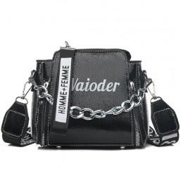 Laserowa torebka damska na ramię INS popularna torebka damska na wakacje torby kurierskie z PU dla pani Design wykwintne wiadro
