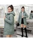 2020 zima nowe damskie kurtki parki slim kobiet dół bawełny płaszcz z kapturem grube ciepłe kurtki luźna na co dzień studencka k