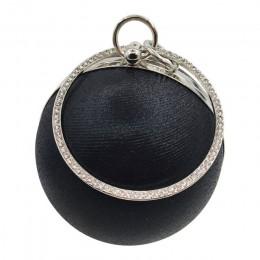 2020 moda damska torba wieczorowa złote srebrne cekiny torebka damska znanej marki kobiet kopertówka małe okrągłe torby na ramię