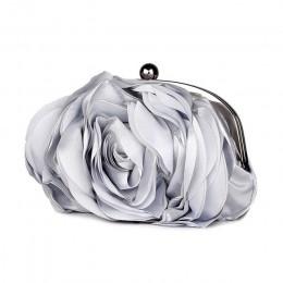 Vintage Ladies Floral torba wieczorowa kobieta modna róża łańcuszek torebka torby na przyjęcie weselne mała torebka bolso XA140H